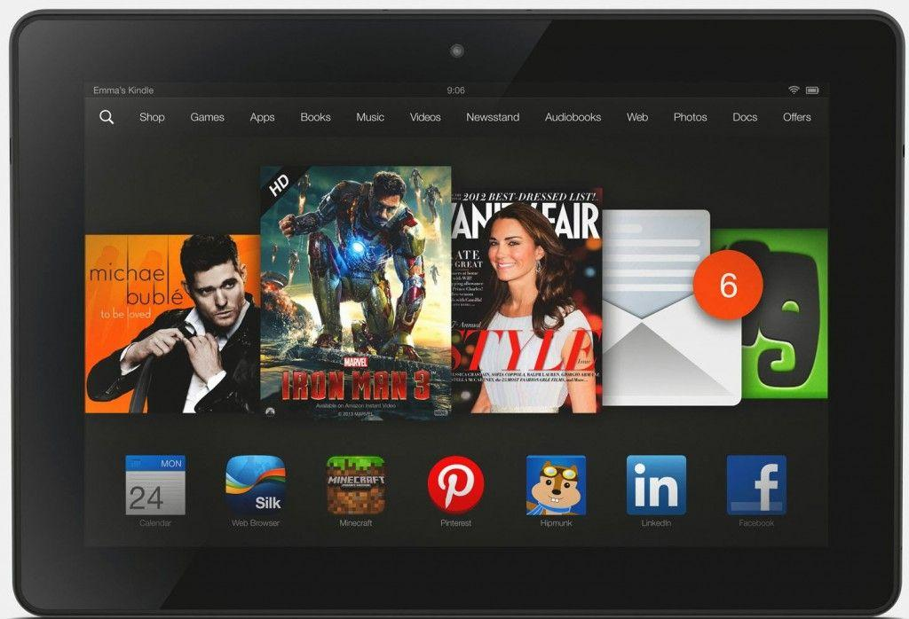 Kindle Fire HDX 8 sesto tablet durata batteria