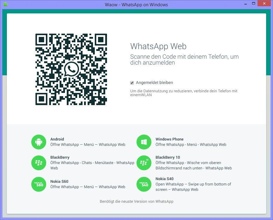 whatsapp web su mac