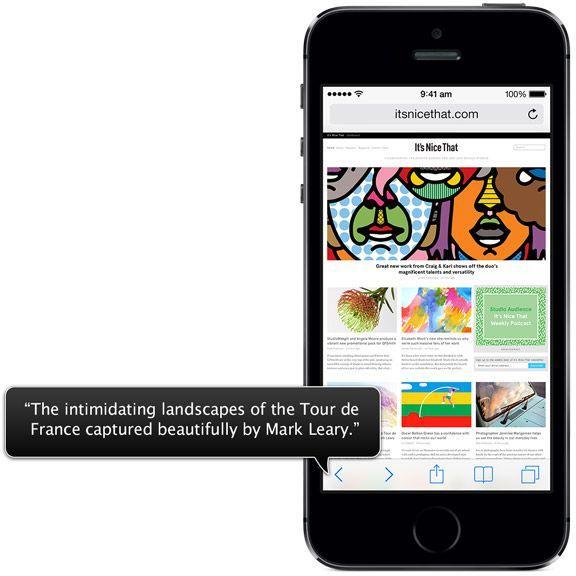 VoiceOVer ebook iPhone iPad