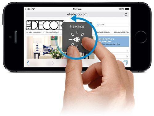 VoiceOver automatizzare lettura iPhone iPad