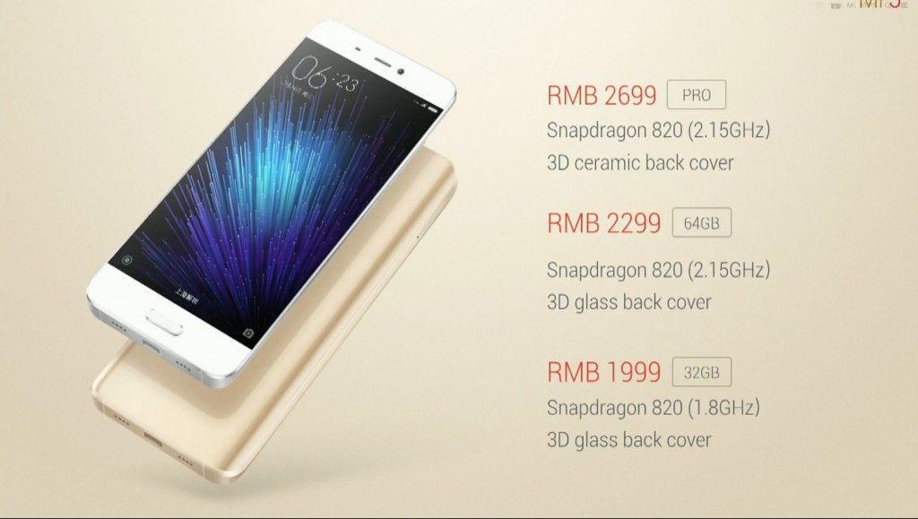 Xiaomi Mi 5 prezzi