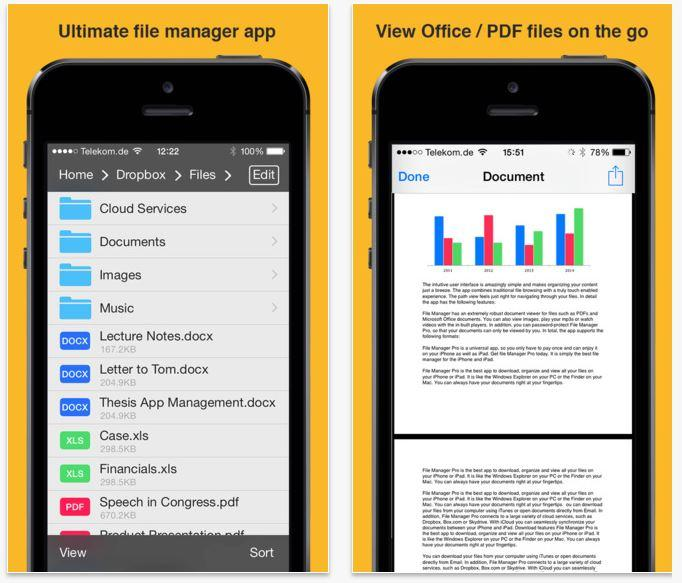 File Manager App i migliori file manager per iPhone