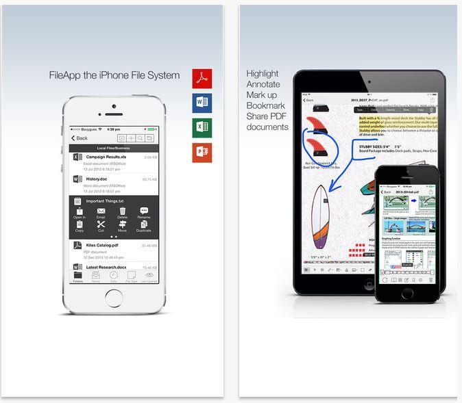 FileApp i migliori file manager per iPhone