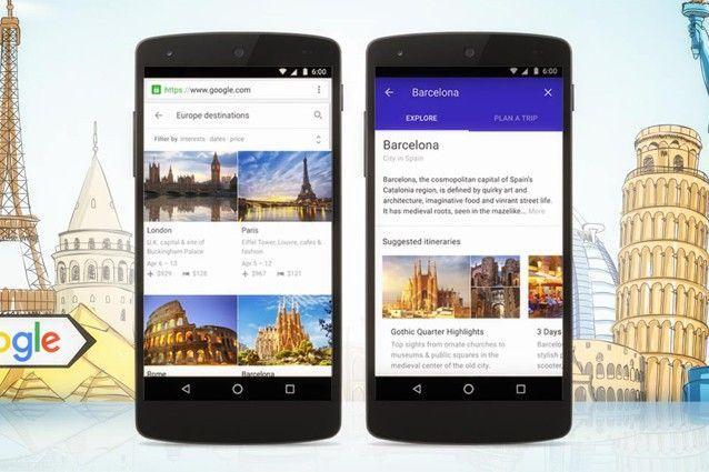 Google Destinazioni viaggi vacanze smartphone