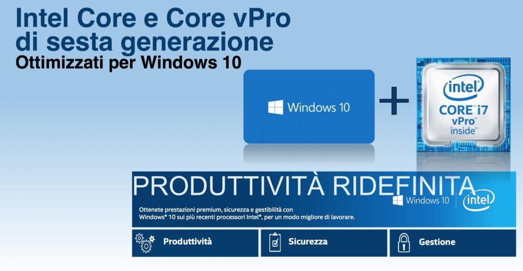 Intel Core vPro e Windows 10 ridefiniscono il mondo business