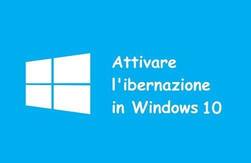 ibernazione Windows 10