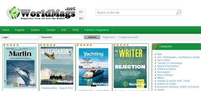 su worldmags potrete trovare giornali online gratis dai principali paesi