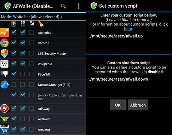 AfWall + migliori app sicurezza Android