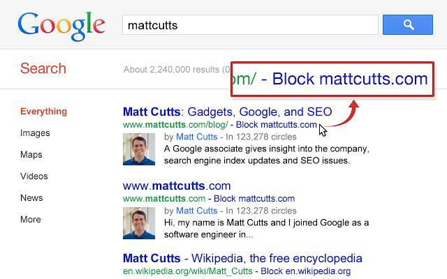 Personal Block List le migliori estensioni ufficiali di Google per Chrome