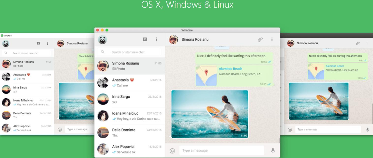 Whatsie, Whatsapp: disponibile il nuovo client W10 personalizzabile