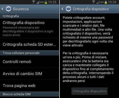 crittografia Android