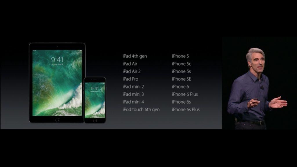 dispositivi compatibili con iOS 10