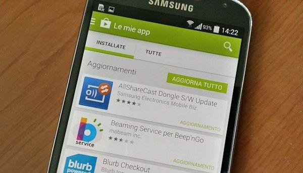 Come evitare aggiornamento automatico applicazioni Android