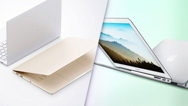 XIAOMI MI NOTEBOOK AIR-vs-macbook-air