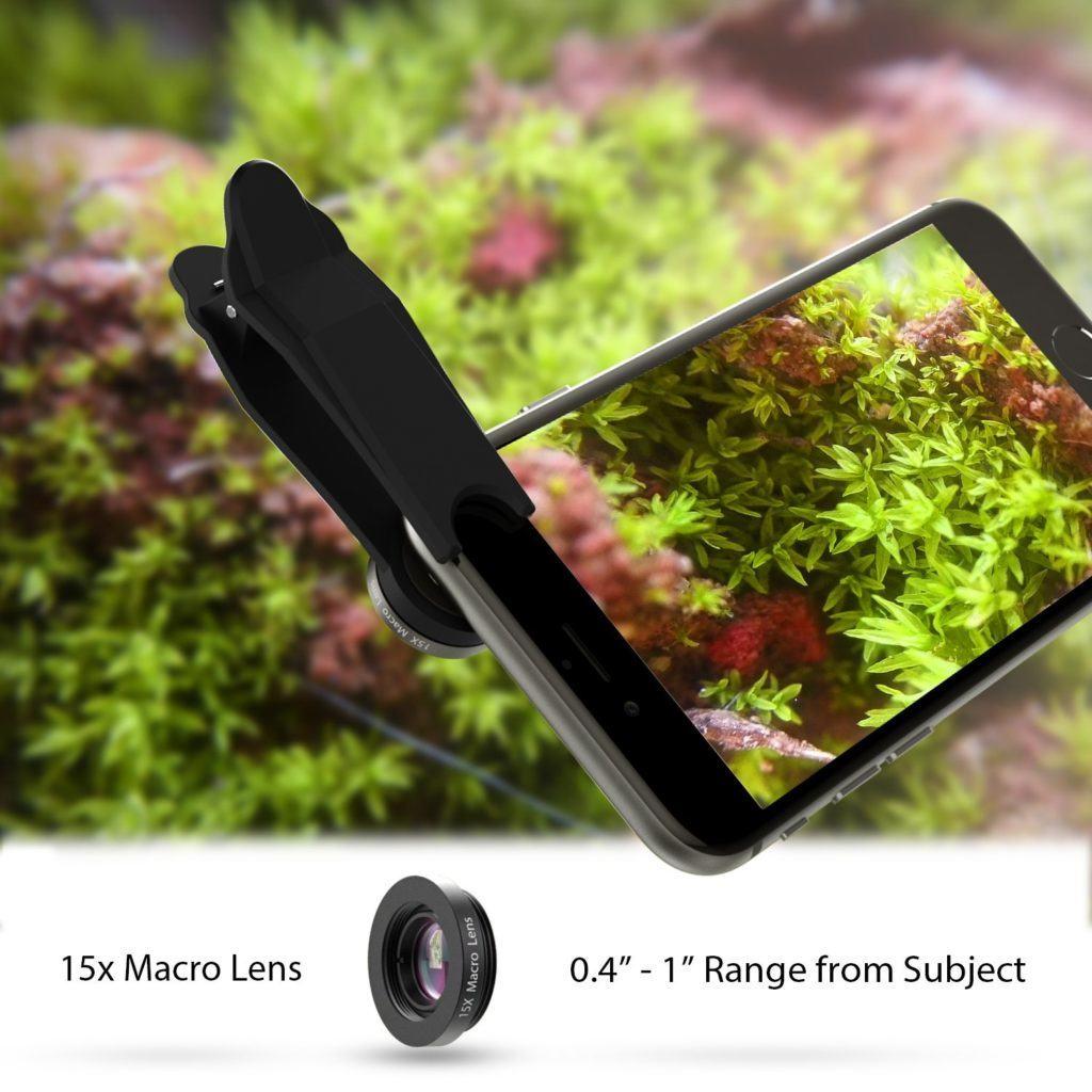 aukey obiettivi clip on per smartphone_ macro