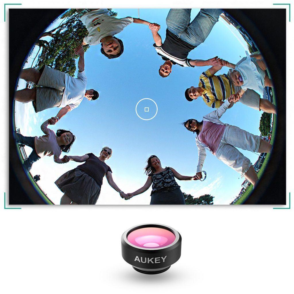aukey obiettivi clip on per smartphone_fisheye