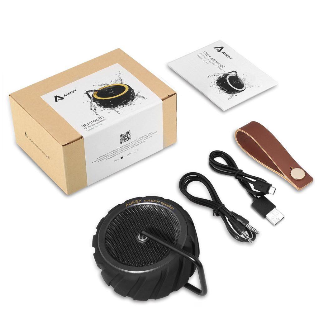AUKEY Altoparlante Bluetooth Impermeabile Portatile senza fili contenuto confezione