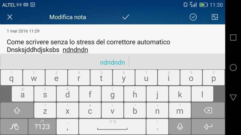 Disabilitare correttore ortografico Android