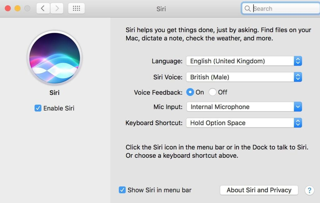 Come attivare Siri vocalmente su MacOS Sierra