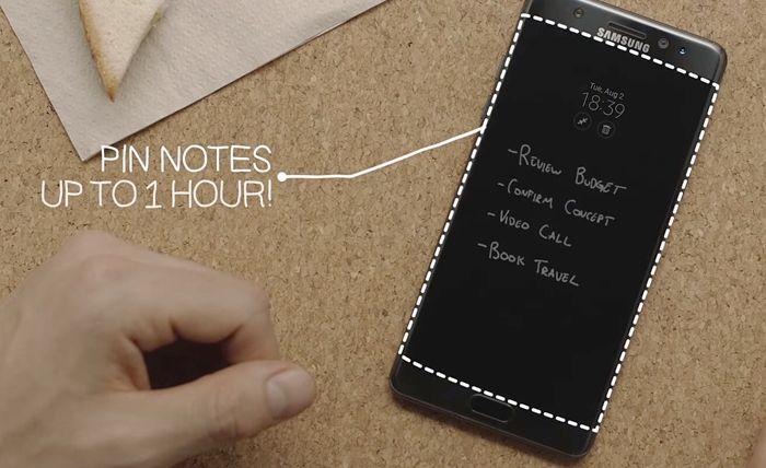 Su Note 7 è possibile scrivere delle note anche con display spento
