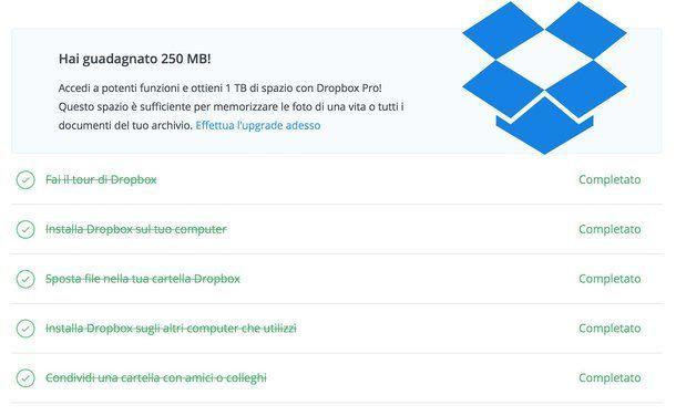 Come aumentare spazio in Dropbox guida e consigli