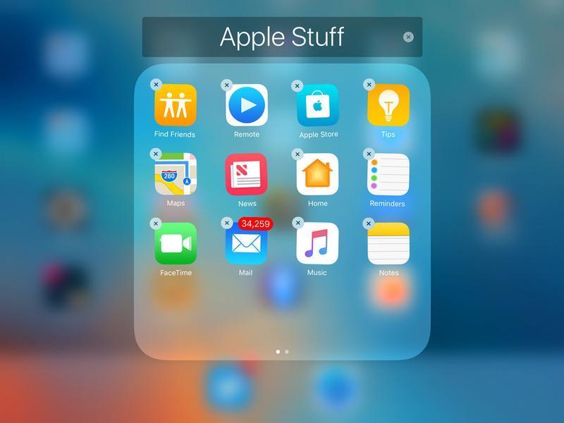 procedura per eliminare le app preinstallate presenti su iOS 10