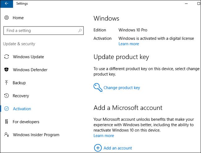 Come usare la licenza gratuita di Windows 10 dopo un cambio di hardware