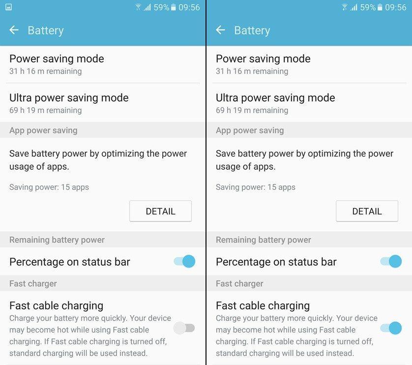 Come abilitare la ricarica veloce su Galaxy S7