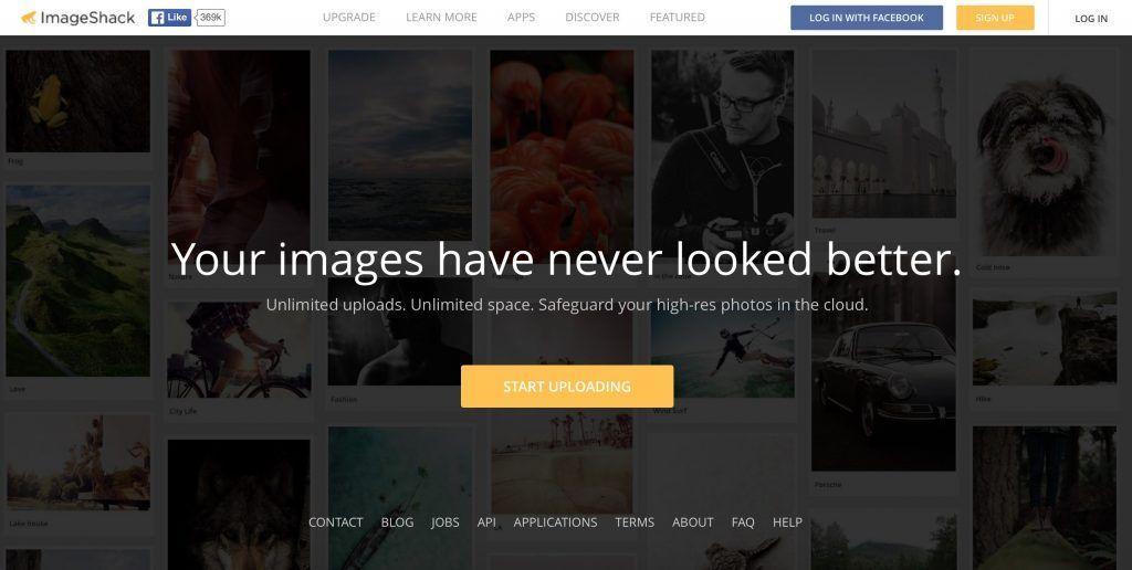 ImageShack è senz'altro il sito di caricamento immagini più famoso al mondo.