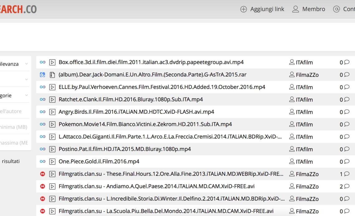 Utilizzando MegaSearch potrete trovare i file hostati su diversi siti, tra cui Mega, e filtrare i risultati per diversi parametri.