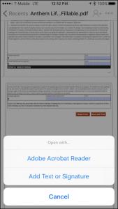 Come firmare un PDF utilizzando Dropbox su iOS