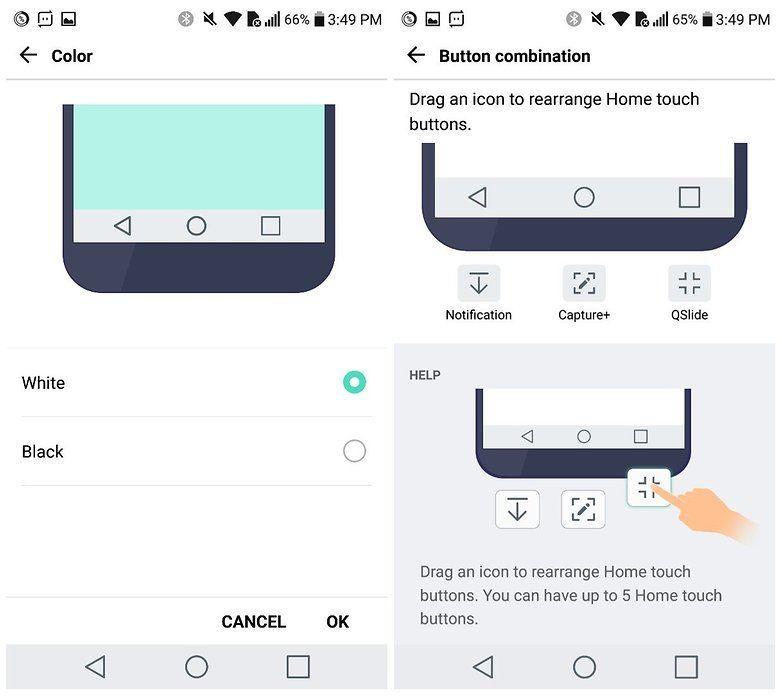 Come personalizzare i tasti di navigazione su LG G5