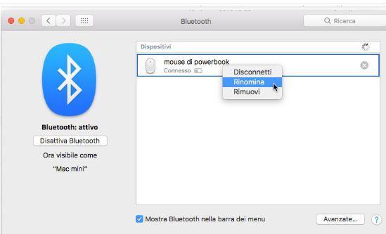 Come rinominare il nome di default di un dispositivo Bluetooth su Mac