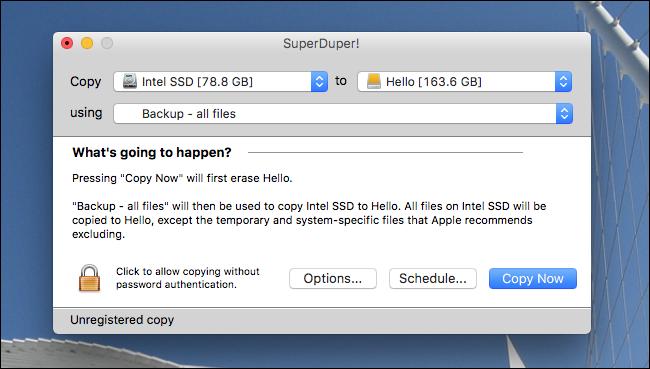 backup bootable da disco esterno su Mac - 1
