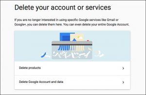 cancellare account google e gmail - step 2