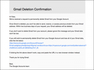 cancellare account google e gmail - step 5