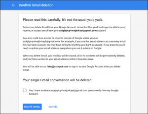 cancellare account google e gmail - step 6