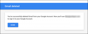 cancellare account google e gmail - step 7