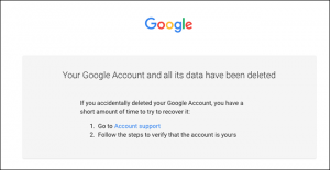 cancellare account google e gmail - step 9