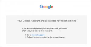 cancellare account google e gmail - step 9