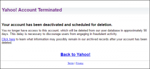 cancellare account yahoo mail - step 4