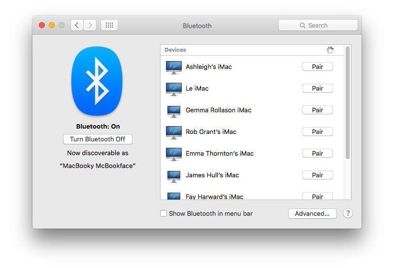 rinominare il nome di default di un dispositivo Bluetooth su Mac