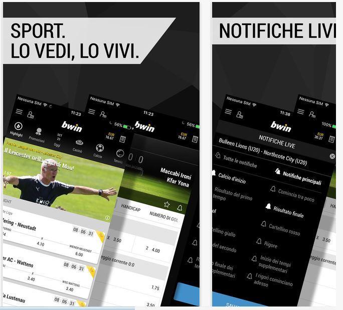 Bwin Migliori app scommesse sportive iPhone e Android