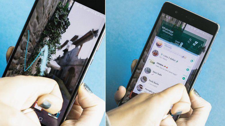 Come lanciare WhatsApp disegnando la lettera W sul display di Huawei P9