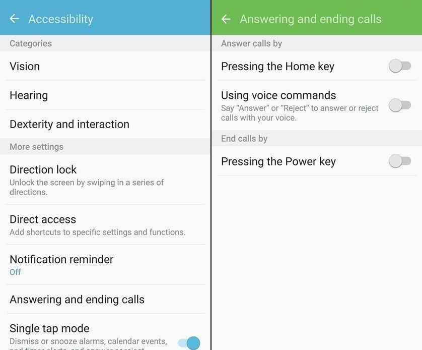 Come rispondere o chiudere le chiamate con i tasti hardware su Galaxy S7
