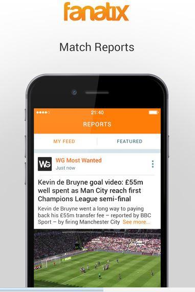 Fanatix – Sports Video News migliori app risultati calcio iPhone e Android