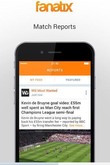 Fanatix – Sports Video News migliori app risultati calcio iPhone e Android