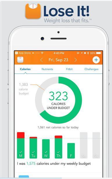 Lose It! migliori app per dieta iPhone e Android