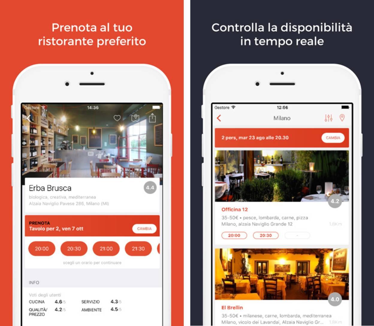 MiSiedo migliori app ristoranti iPhone e Android