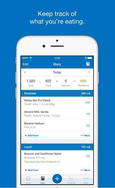 MyFitnessPal migliori app per dieta iPhone e Android